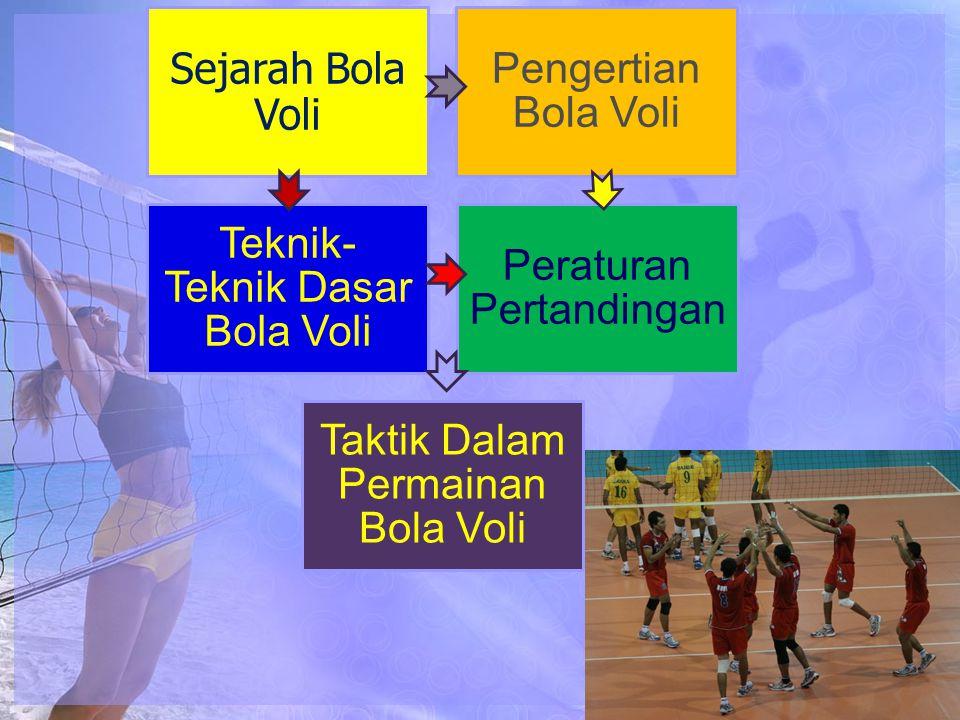 Teknik-Teknik Dasar Bola Voli Peraturan Pertandingan