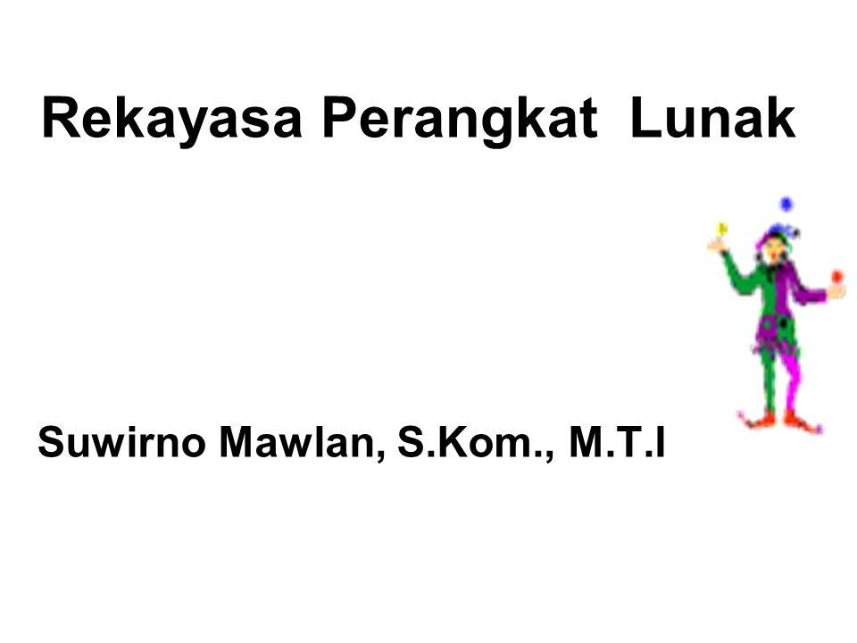 Rekayasa Perangkat Lunak Suwirno Mawlan, S.Kom., M.T.I