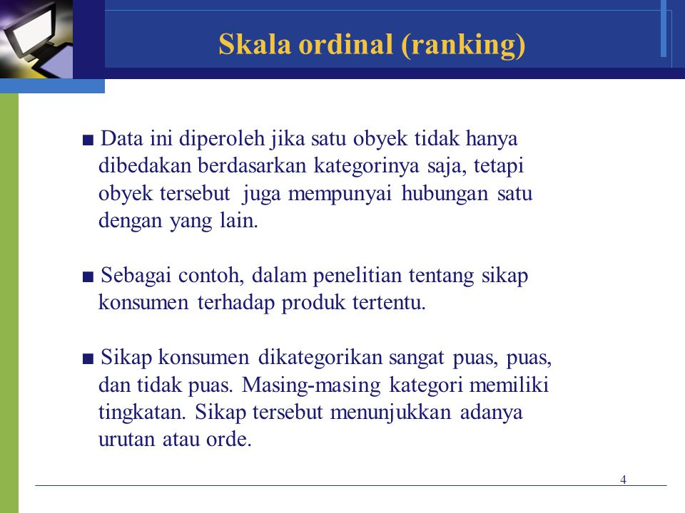 Skala ordinal (ranking)