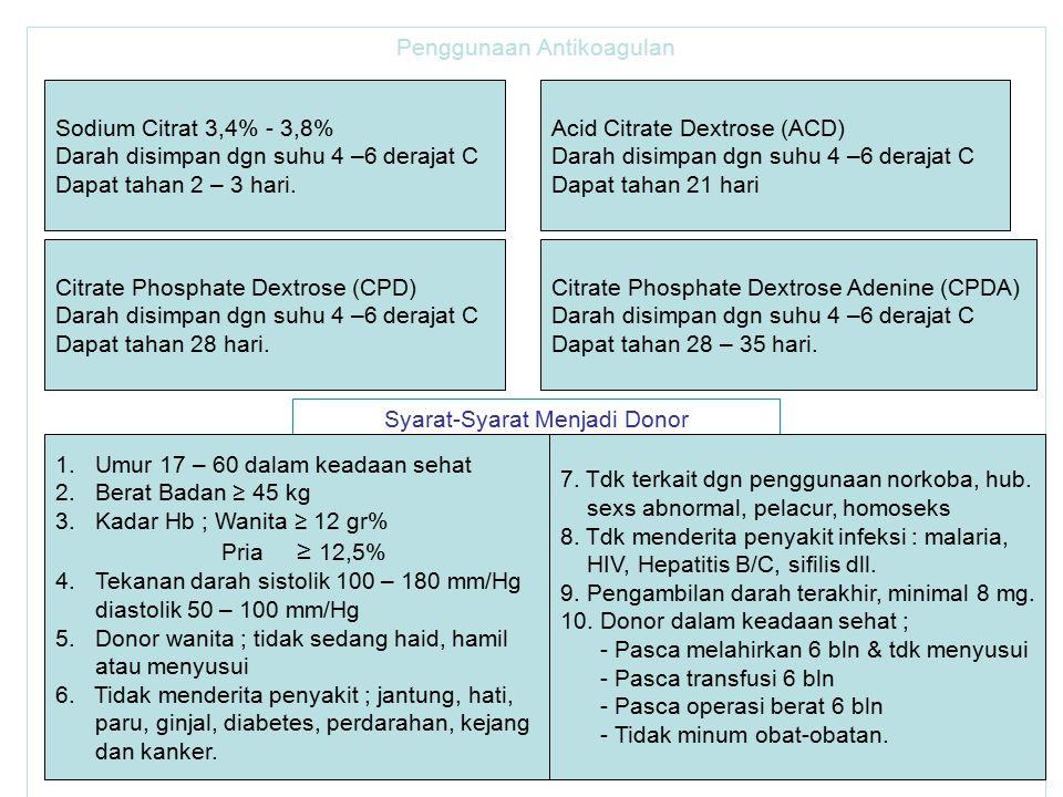 Penggunaan Antikoagulan