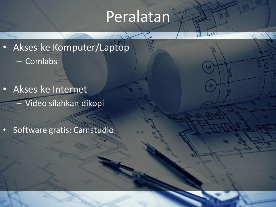 Peralatan Akses ke Komputer/Laptop Akses ke Internet Comlabs