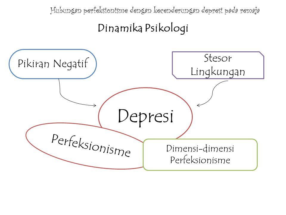 Hubungan perfeksionisme dengan kecenderungan depresi pada remaja