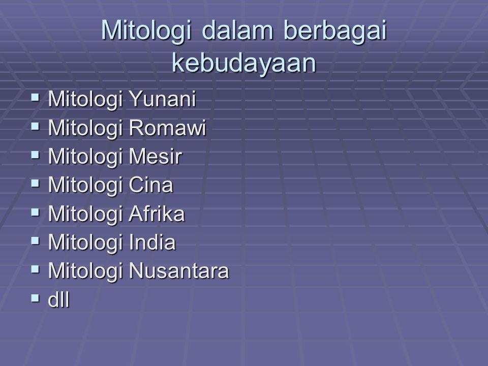 Mitologi dalam berbagai kebudayaan