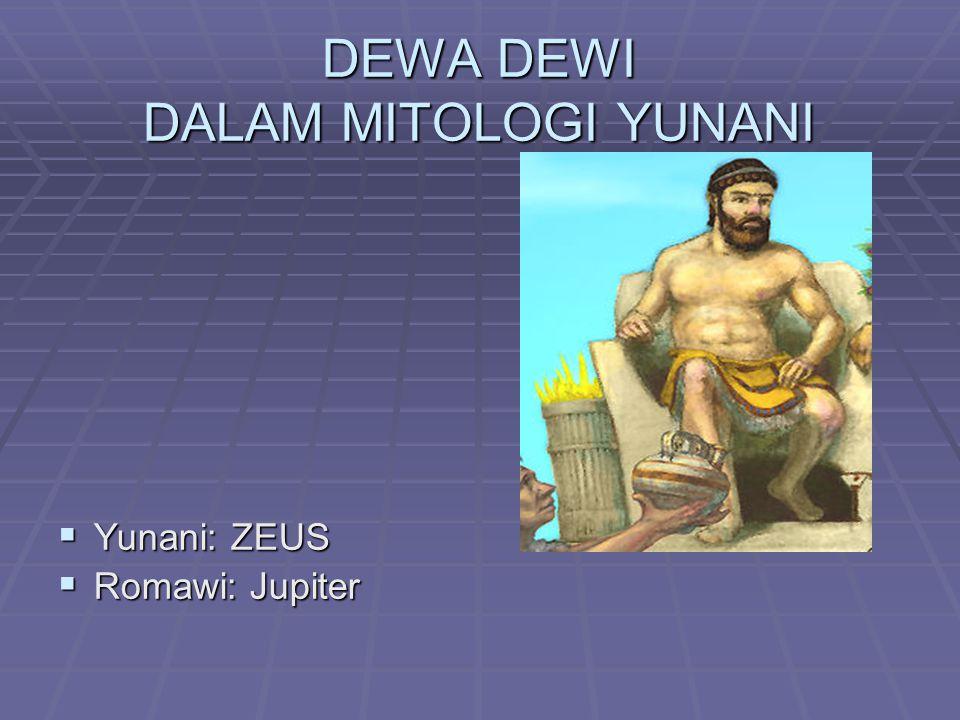 DEWA DEWI DALAM MITOLOGI YUNANI