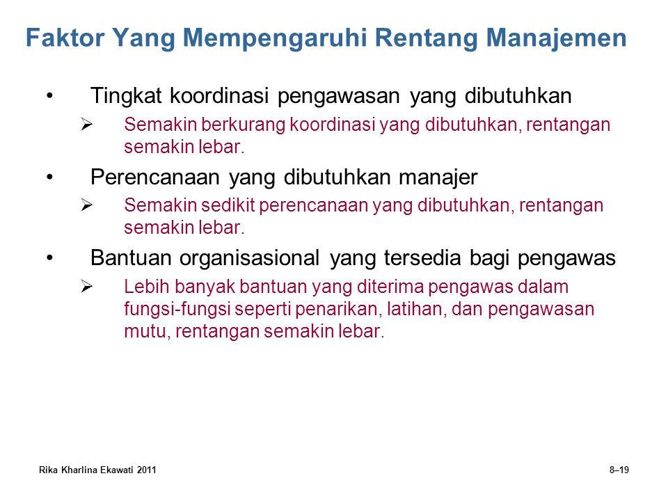Faktor Yang Mempengaruhi Rentang Manajemen