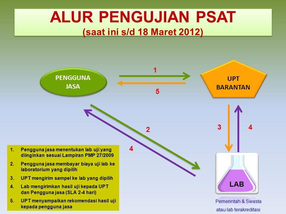 ALUR PENGUJIAN PSAT (saat ini s/d 18 Maret 2012)