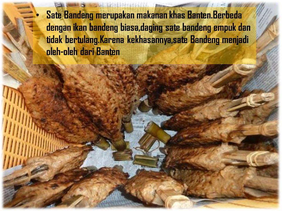 Sate Bandeng merupakan makanan khas Banten