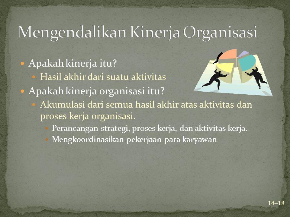 Mengendalikan Kinerja Organisasi