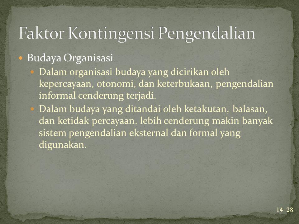 Faktor Kontingensi Pengendalian