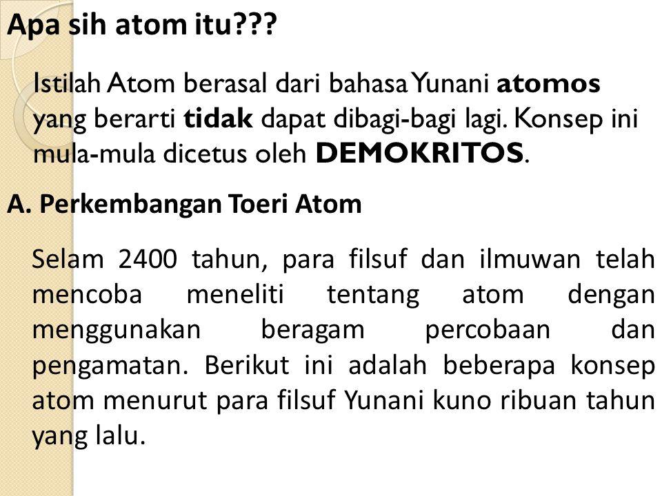 Apa sih atom itu