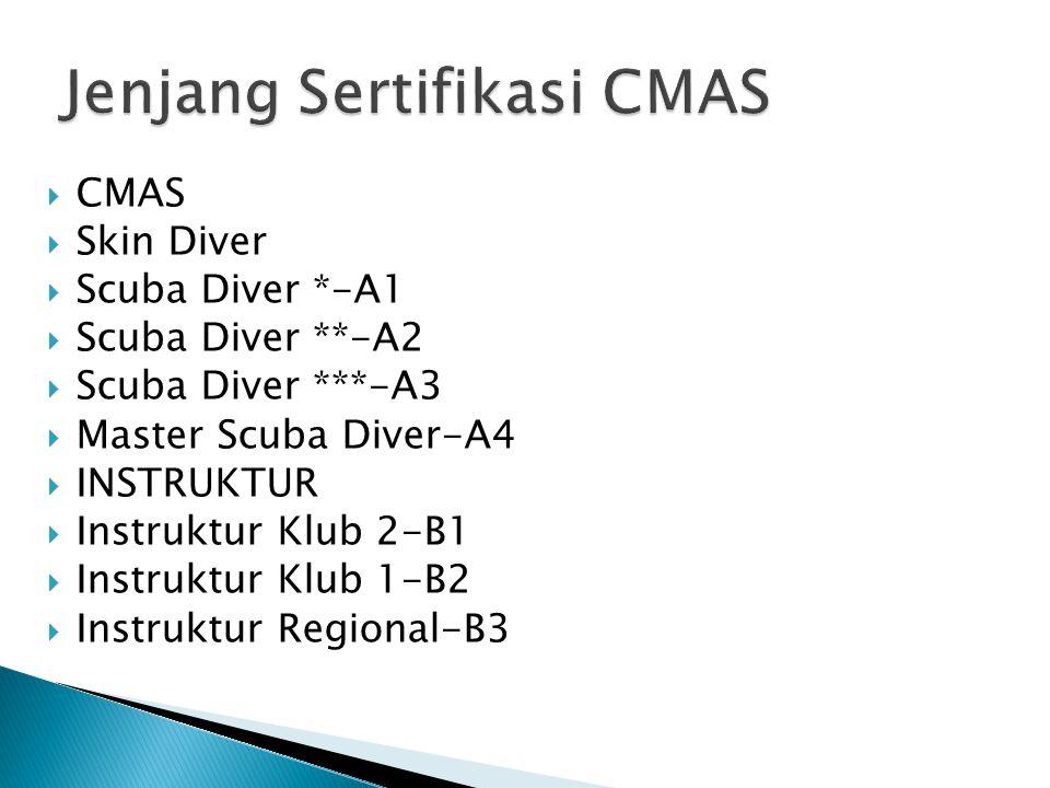 Jenjang Sertifikasi CMAS