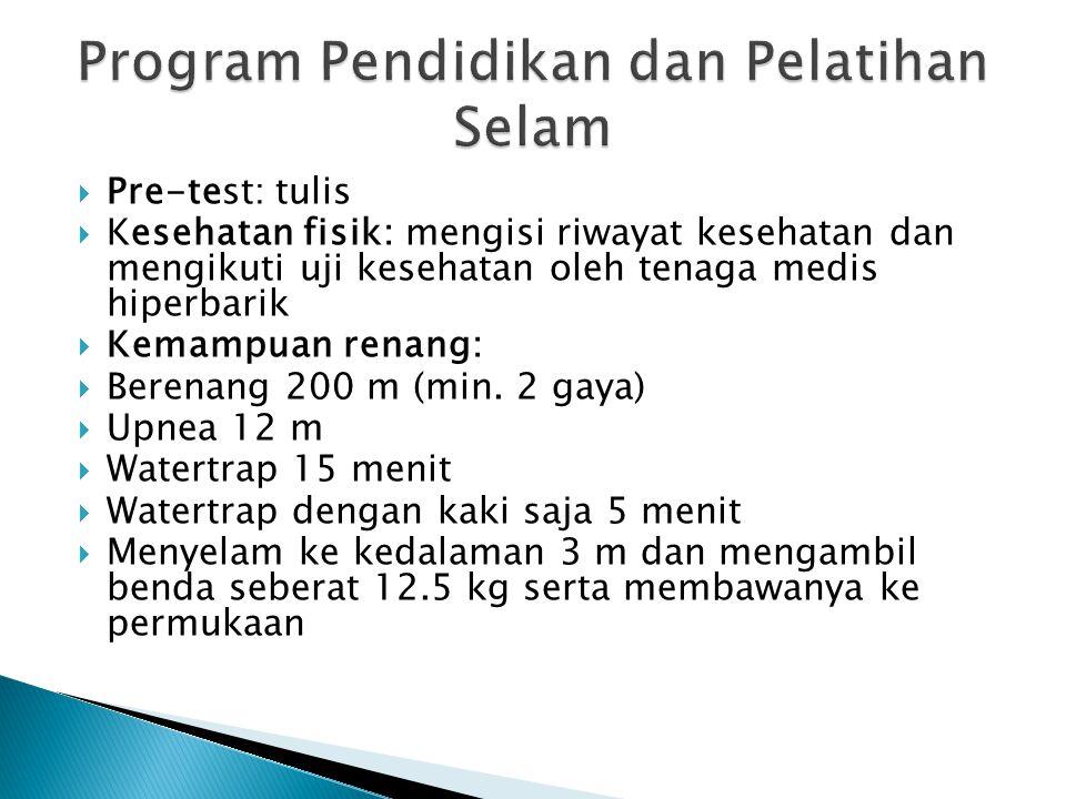 Program Pendidikan dan Pelatihan Selam
