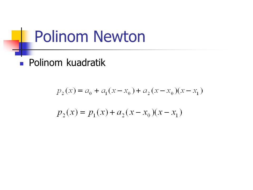 Polinom Newton Polinom kuadratik