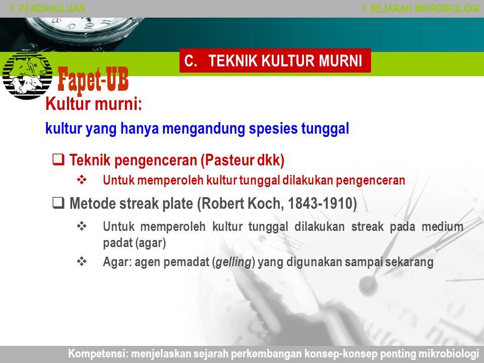 Kultur murni: TEKNIK KULTUR MURNI