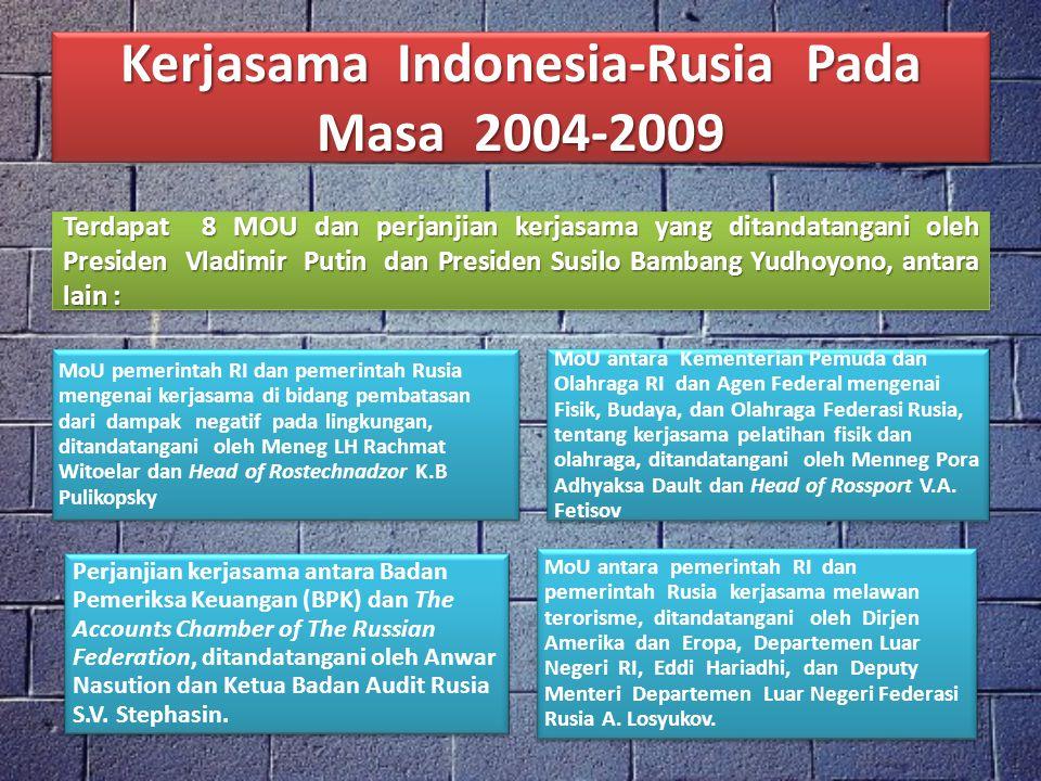Kerjasama Indonesia-Rusia Pada Masa 2004-2009