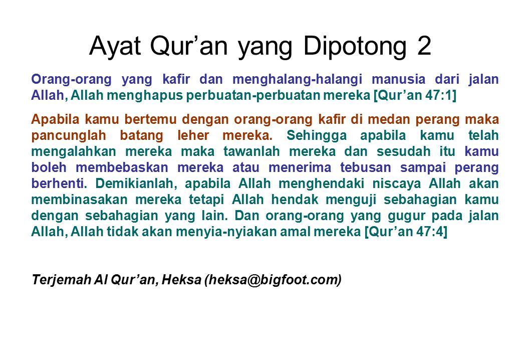 Ayat Qur'an yang Dipotong 2