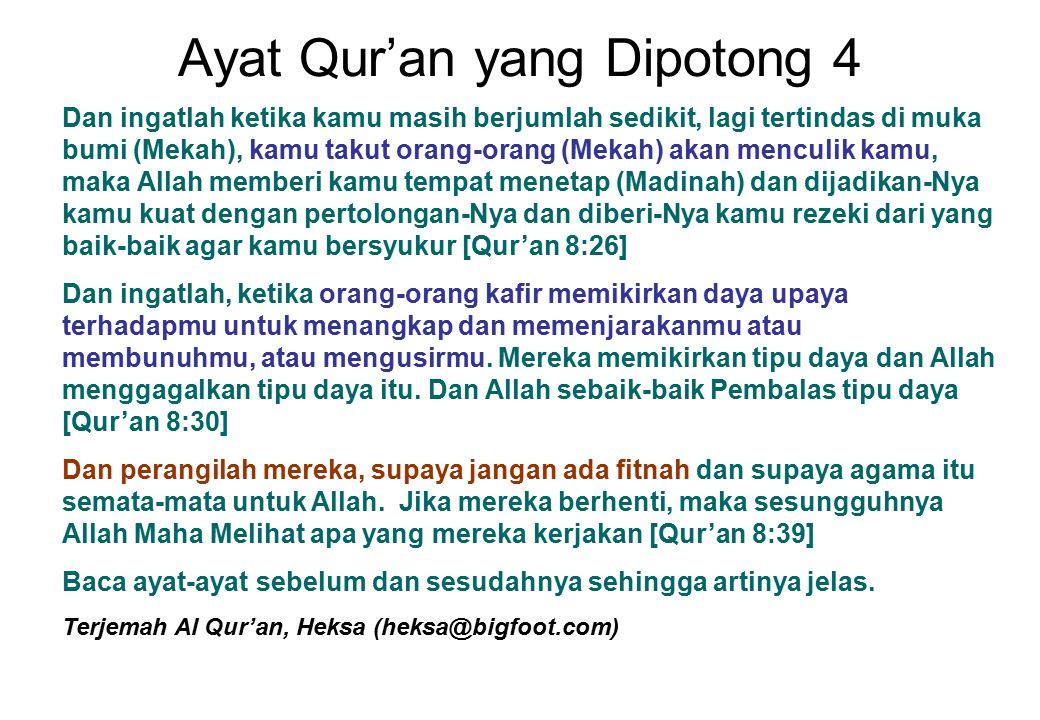 Ayat Qur'an yang Dipotong 4