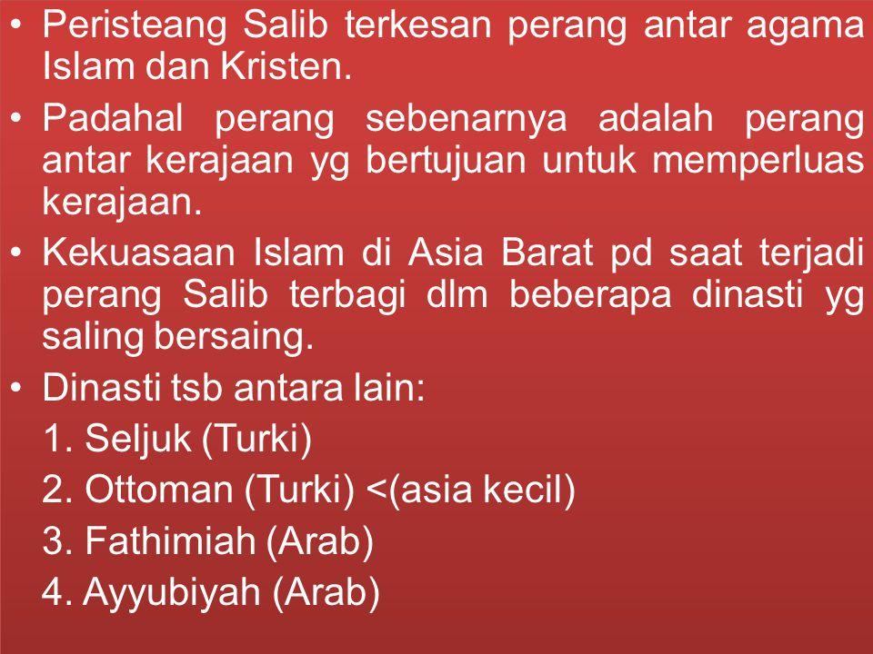 Peristeang Salib terkesan perang antar agama Islam dan Kristen.