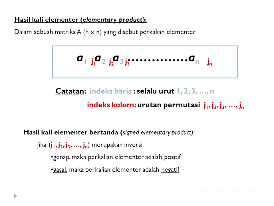 Hasil kali elementer (elementary product):