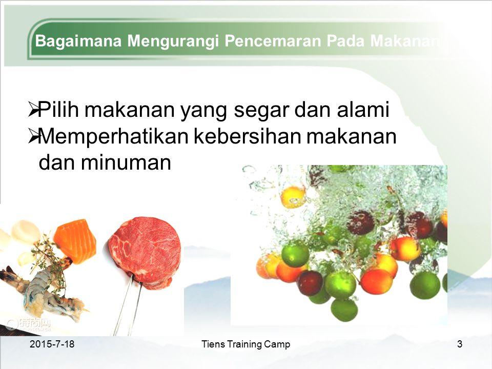 Bagaimana Mengurangi Pencemaran Pada Makanan