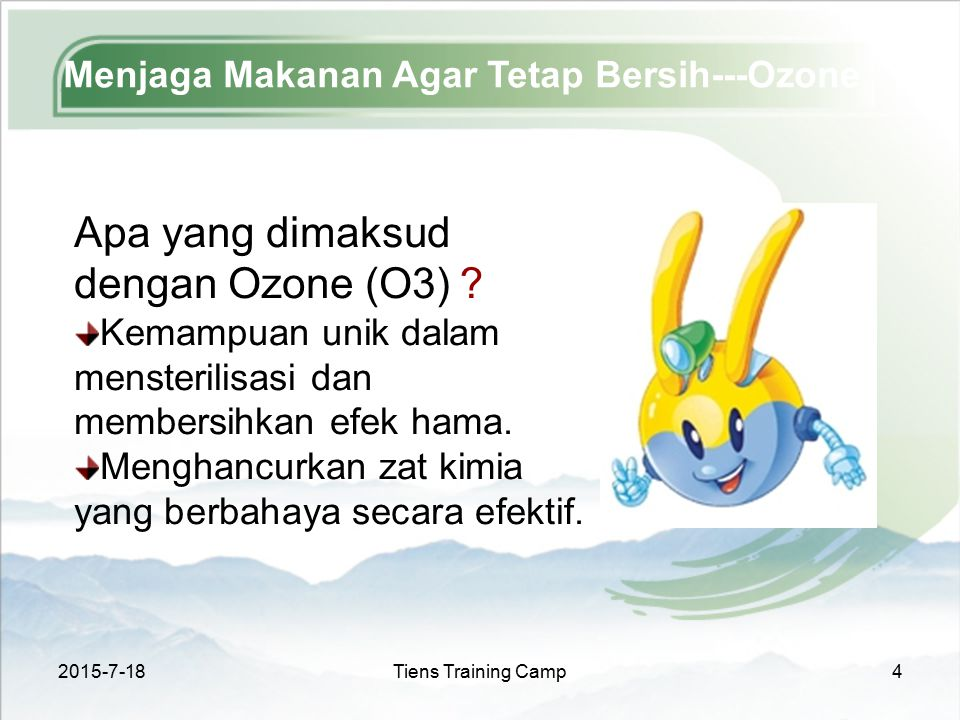 Menjaga Makanan Agar Tetap Bersih---Ozone