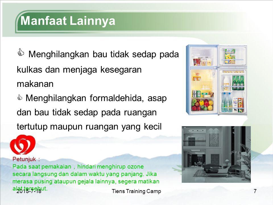 Manfaat Lainnya Menghilangkan bau tidak sedap pada kulkas dan menjaga kesegaran makanan.
