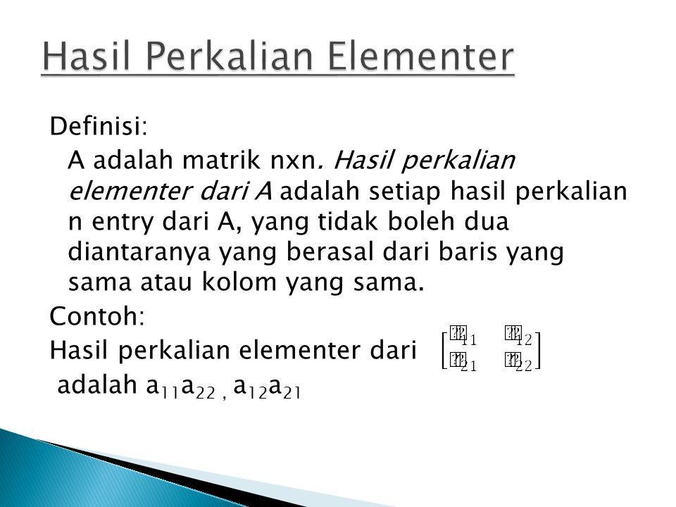 Hasil Perkalian Elementer
