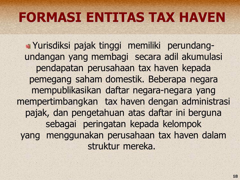 FORMASI ENTITAS TAX HAVEN
