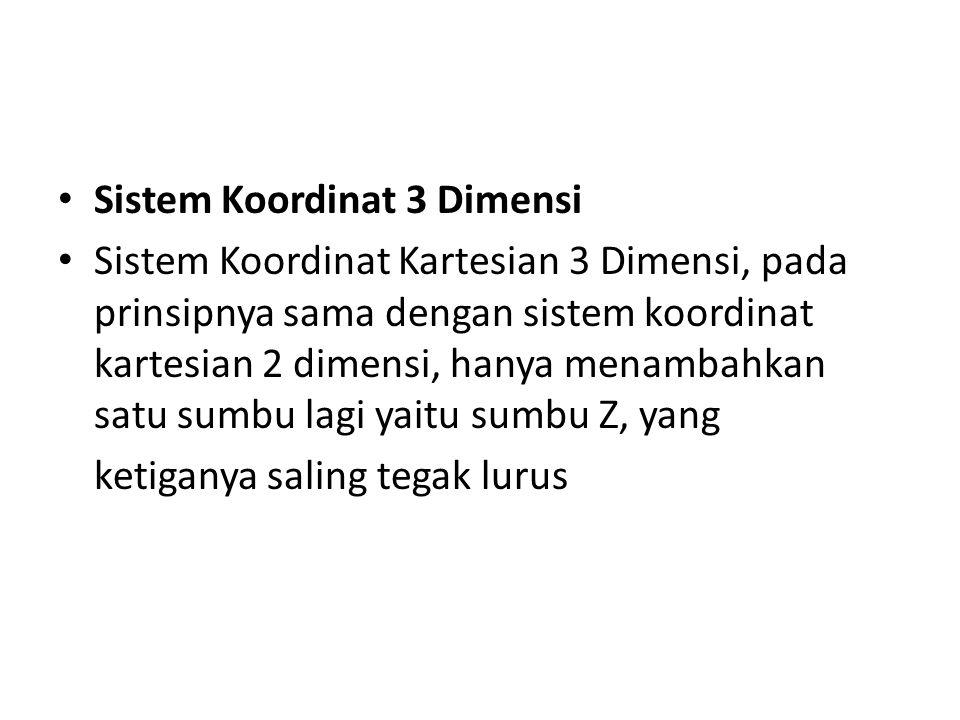 Sistem Koordinat 3 Dimensi