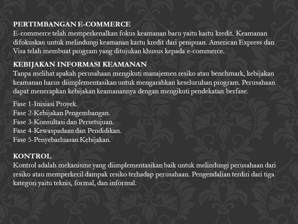 PERTIMBANGAN E-COMMERCE