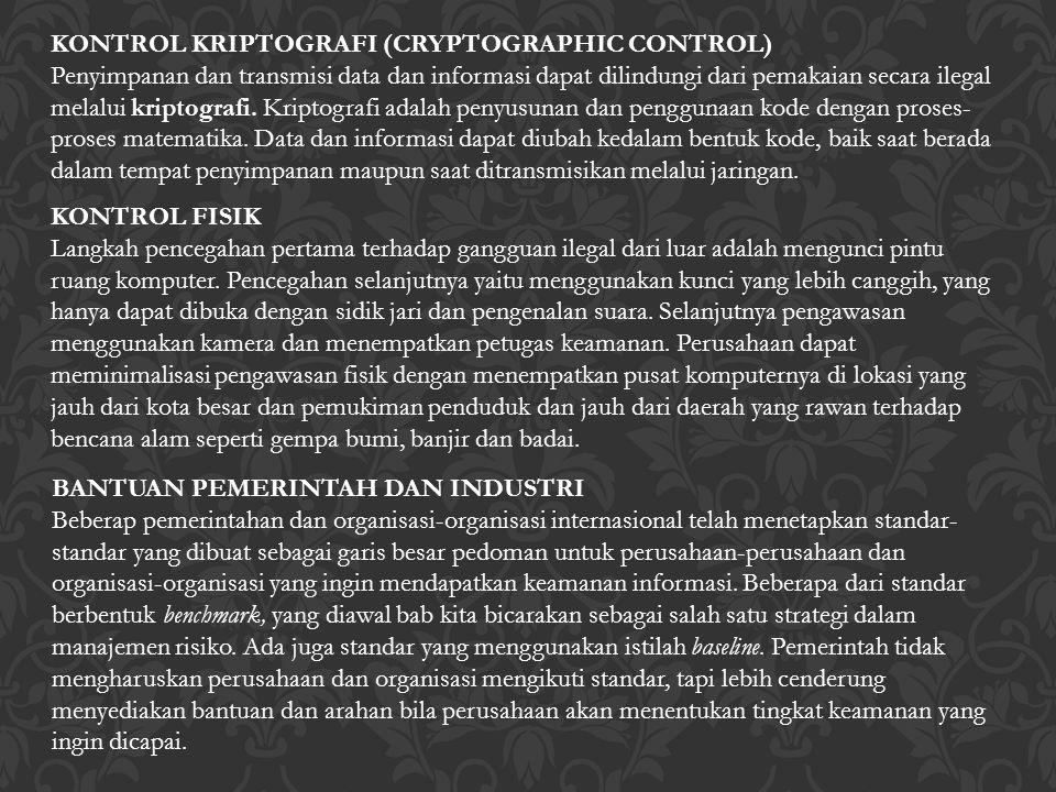 KONTROL KRIPTOGRAFI (CRYPTOGRAPHIC CONTROL)