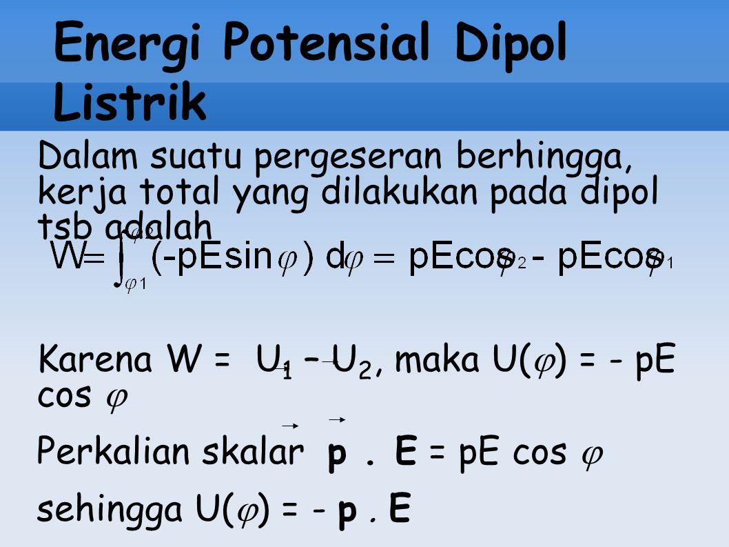 Energi Potensial Dipol Listrik