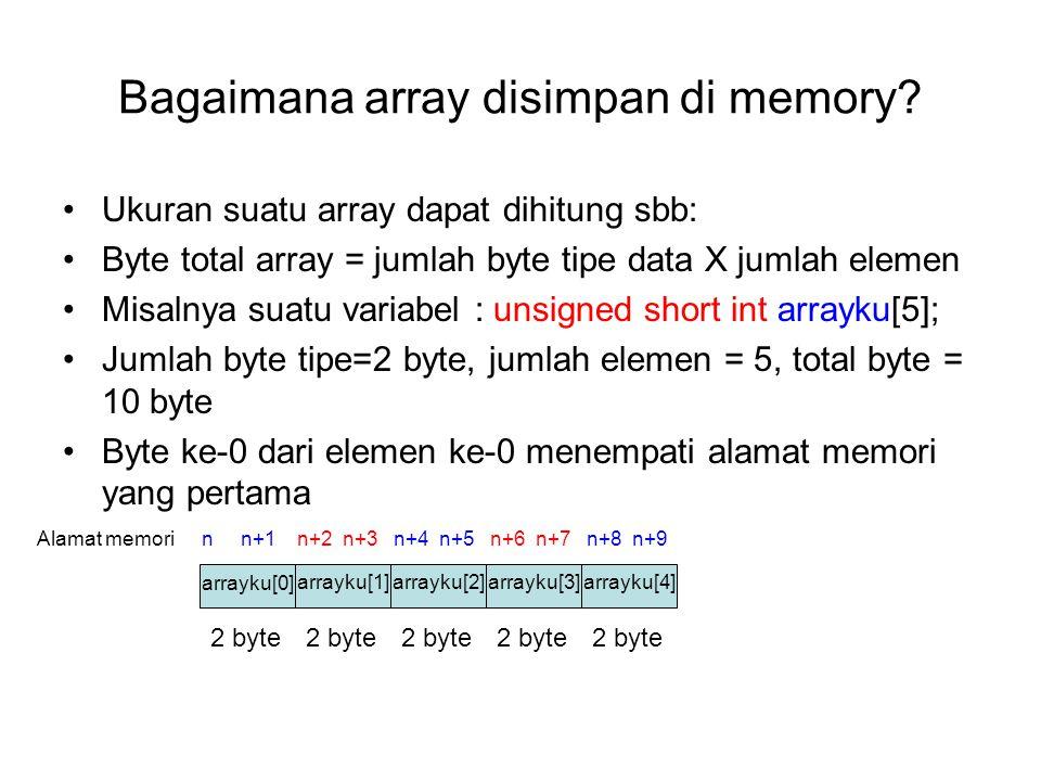 Bagaimana array disimpan di memory