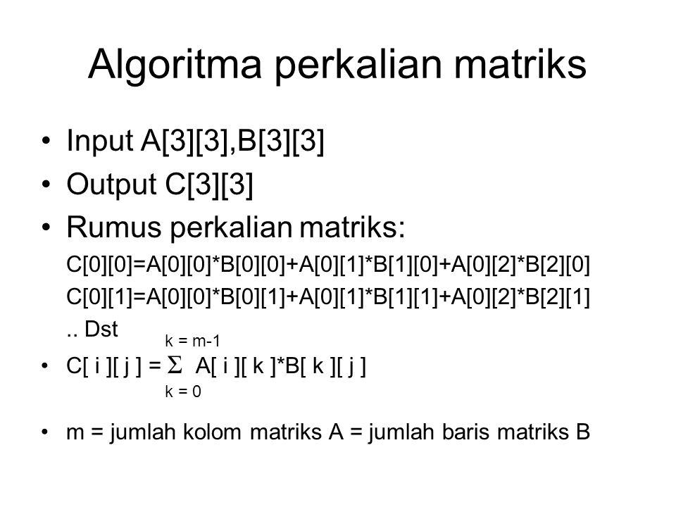 Algoritma perkalian matriks