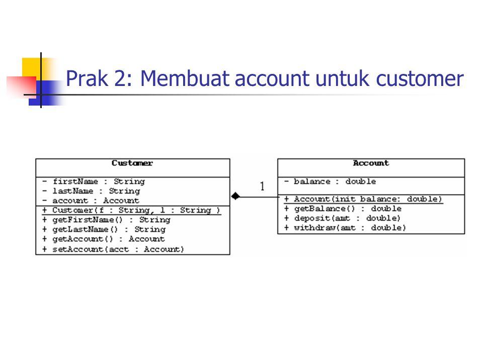 Prak 2: Membuat account untuk customer