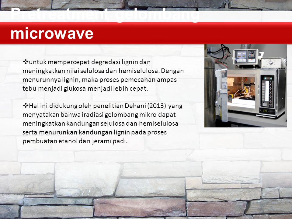 Pretreatment gelombang microwave