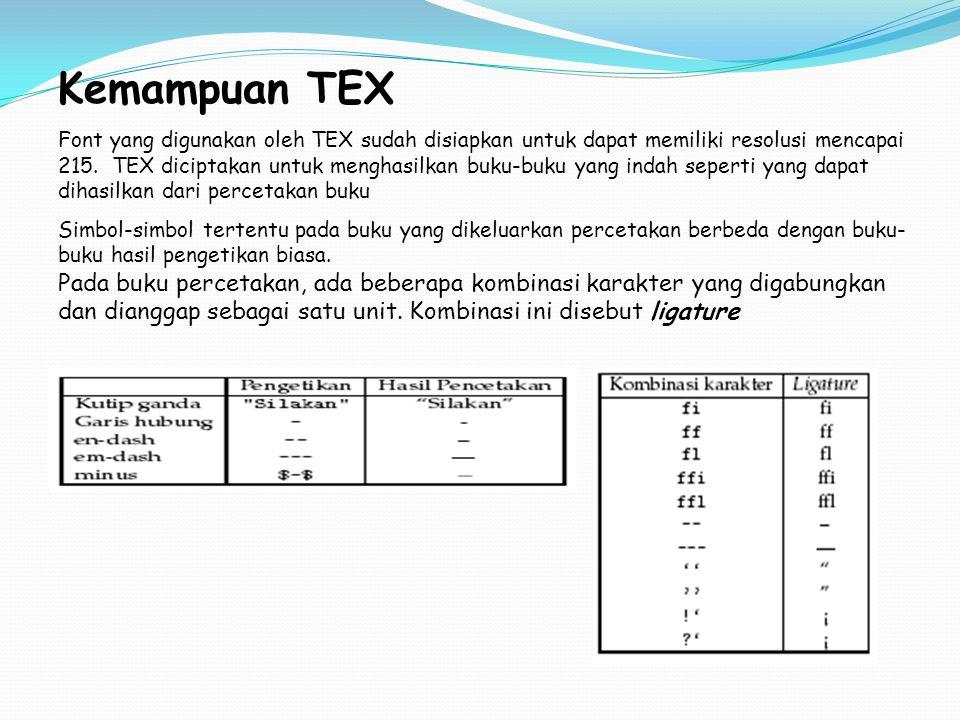 Kemampuan TEX