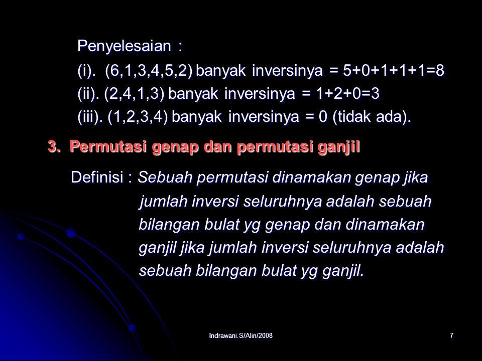 3. Permutasi genap dan permutasi ganjil