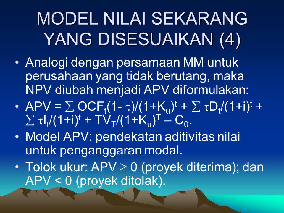 MODEL NILAI SEKARANG YANG DISESUAIKAN (4)
