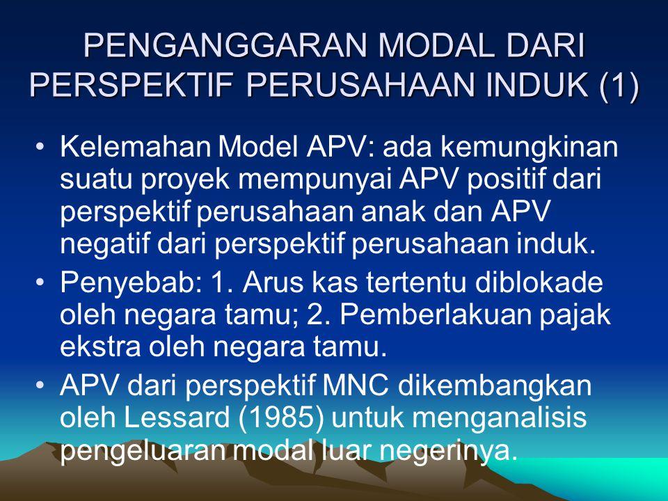 PENGANGGARAN MODAL DARI PERSPEKTIF PERUSAHAAN INDUK (1)