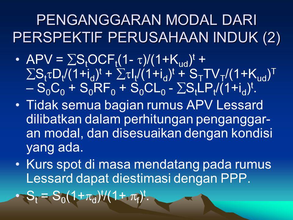 PENGANGGARAN MODAL DARI PERSPEKTIF PERUSAHAAN INDUK (2)