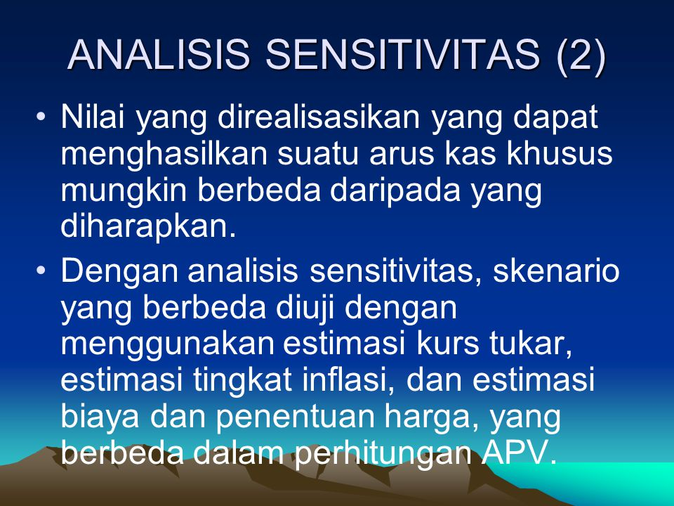 ANALISIS SENSITIVITAS (2)
