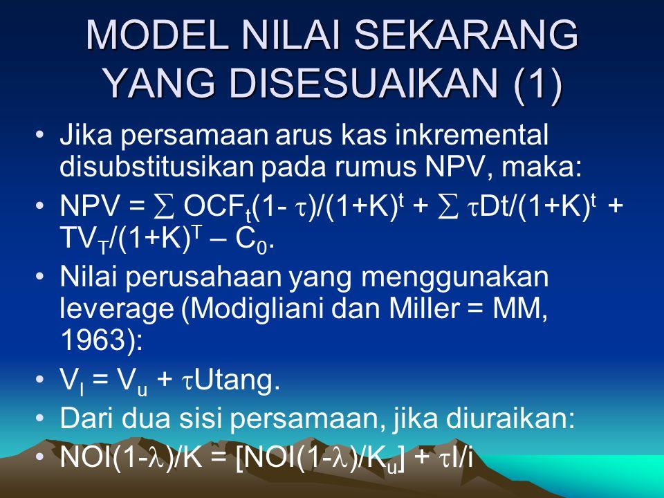 MODEL NILAI SEKARANG YANG DISESUAIKAN (1)
