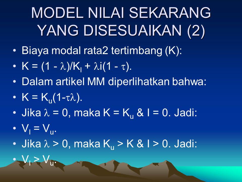 MODEL NILAI SEKARANG YANG DISESUAIKAN (2)