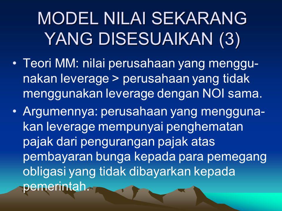 MODEL NILAI SEKARANG YANG DISESUAIKAN (3)