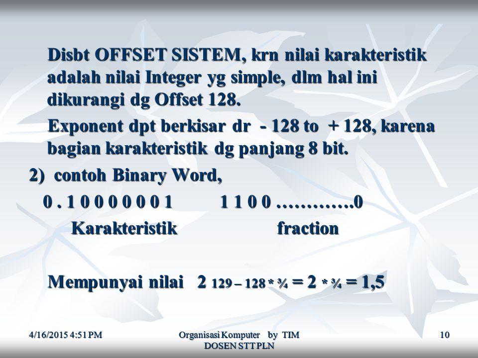 Organisasi Komputer by TIM DOSEN STT PLN