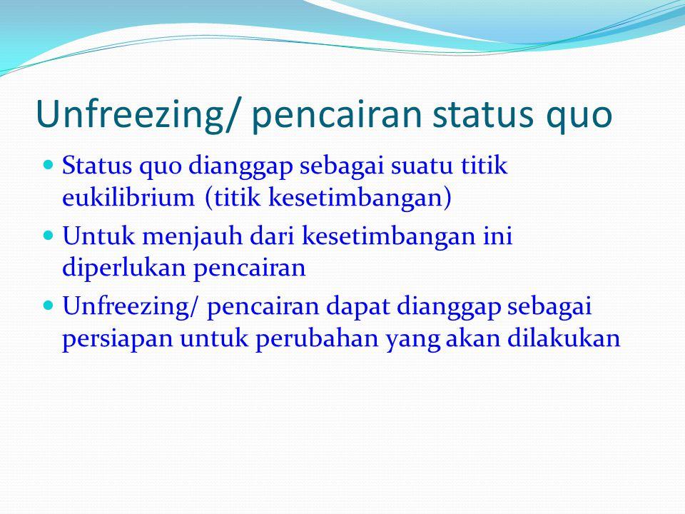 Unfreezing/ pencairan status quo