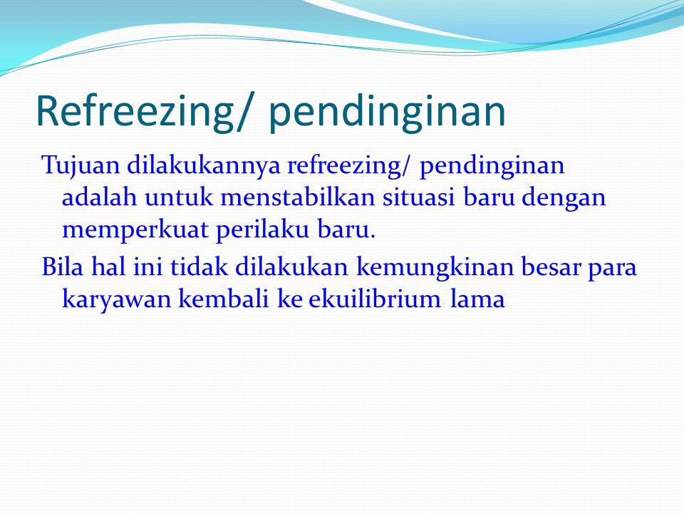 Refreezing/ pendinginan