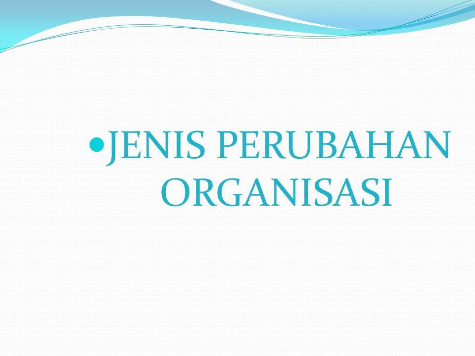 JENIS PERUBAHAN ORGANISASI