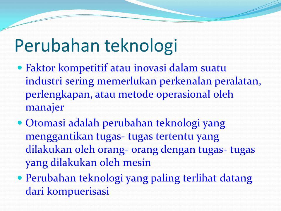 Perubahan teknologi